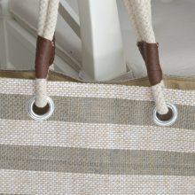 Large Jute Beach Market Bag with Rope Handles