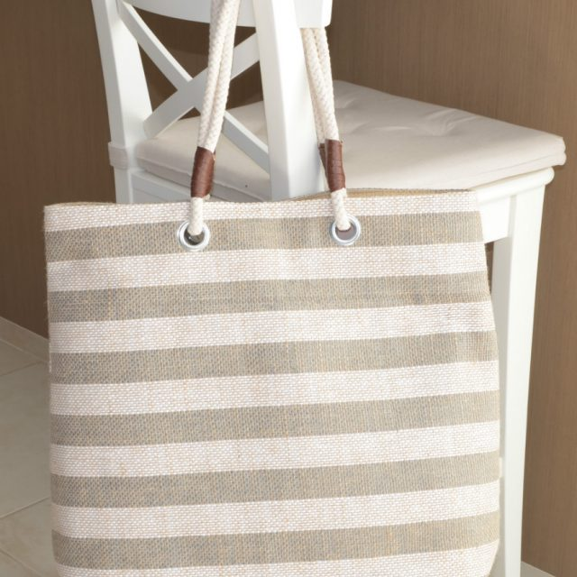 Large Jute Beach Market Bag with Rope Handles