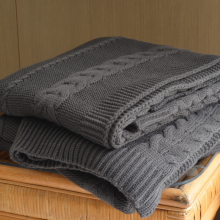 Cable Knit Throw Blanket