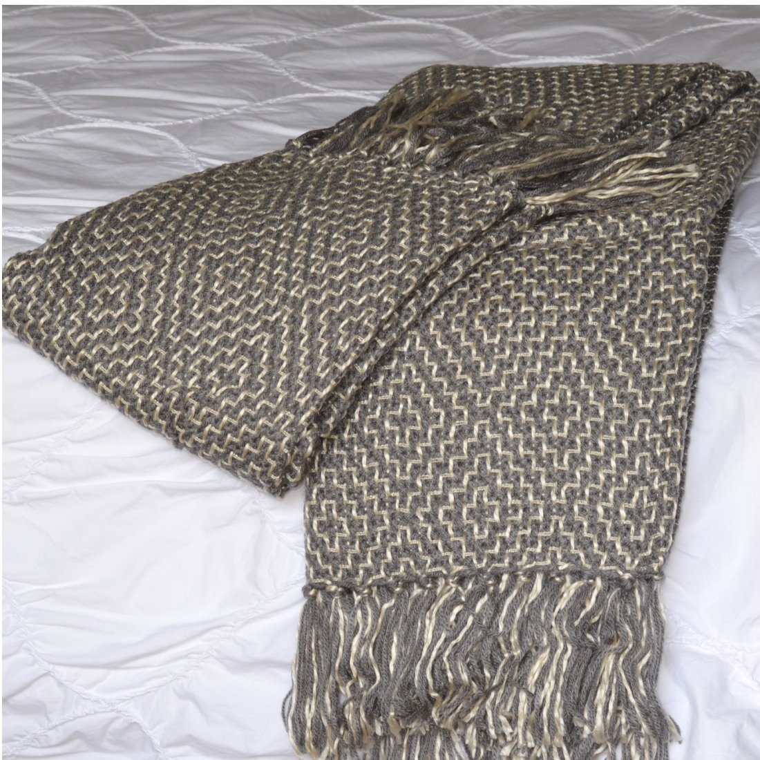 Woven Throw Blanket Available In Two Timeless Colors